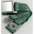 "Dark Green 1 Passenger 2 Point Lap Belt w/ Chrome Aviation Lift Buckle (60"")"