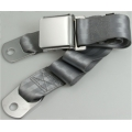 "Grey 1  Passenger 2 Point Lap Belt w/ Chrome Aviation Lift Buckle (60"")"