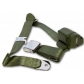 1965-73 Green 2 Passenger 3 Point Seat Belt Kit (with all needed hardware)