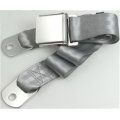 "Silver 1 Passenger 2 Point Lap Belt w/ Chrome Aviation Lift Buckle (60"")"
