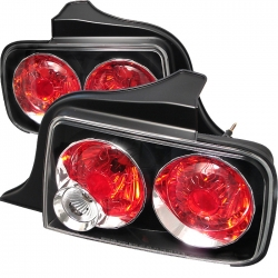 2005-09 Euro Style Tail Light Black (PAIR)