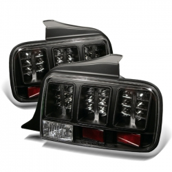 2005-09 LED Tail Lights Black (PAIR)