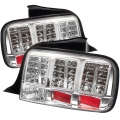 2005-09 LED Tail Lights Chrome (PAIR)