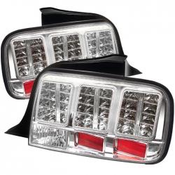 2005-09 LED Tail Lights Chrome (PAIR)