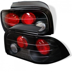1994-95 Euro Style Tail Lights Black  (PAIR)