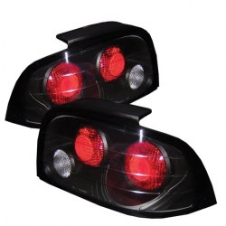 1996-98 Euro Style Tail Lights Black (PAIR)