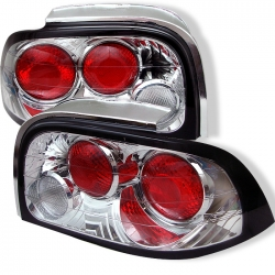 1996-98 Euro Style Tail Lights Chrome (PAIR)
