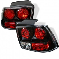 1999-2004 Euro Style Tail Lights Black (PAIR)