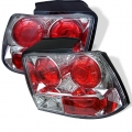 99-04 Euro Style Tail Lights - Chrome  (PAIR)