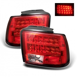 99-04 LED Tail Lights - Red Clear (PAIR)