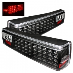 87-93 LED Tail Lights - Black (PAIR)