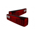 87-93 LED Tail Lights - Red Clear (PAIR)