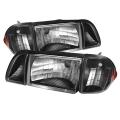87-93 OE style Parking Corner & Headlights 6pcs Amber - Black