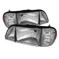 87-93 OE style Parking Corner & Headlights 6pcs Amber - Chrome