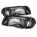 87-93 OE style Parking Corner & Headlights 6pcs - Black