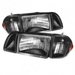 87-93 OE style Parking Corner & Headlights 6pcs - Black
