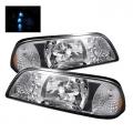 87-93 LED Crystal Headlights - Chrome (PAIR)