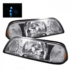87-93 LED Crystal Headlights - Chrome (PAIR)