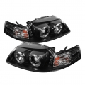 99-04 LED Projector Headlights - Black (PAIR)