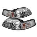 99-04 LED Projector Headlights - Chrome (PAIR)