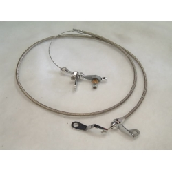 1965-1970 KICKDOWN CABLE KIT, FLEXIBLE FORD