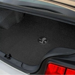 69-70 Mustang Trunk Mat Fastback Deck w/Rear seat Folded w/Shelby Word & Snake