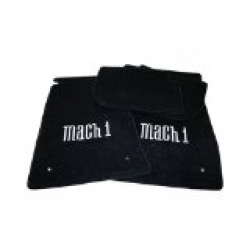 64-73 Floor Mats, Black w/Mach 1 Emblem (Coupe)