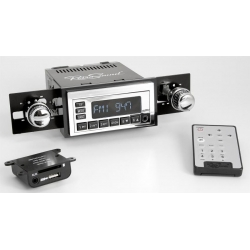 1967-73 Ford Mustang Retrosound Model One Chrome Am/FM Radio w/ Infinimount Bracket System