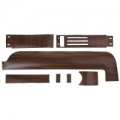 1968 WOODGRAIN REPLACEMENT TRIM KITS, Dash Woodgrain Kit - W/O Instrument Bezel