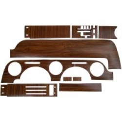 1968 WOODGRAIN REPLACEMENT TRIM KITS, Dash Woodgrain Kit - With Instrument Bezel