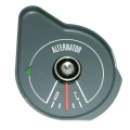 1969-70 MUSTANG ALTERNATOR GAUGE WITHOUT TACH, Steel Grey Face.