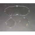 1969-70 INSTRUMENT BEZEL LENSES SET, Without Tach