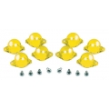 1967-70 INSTRUMENT PANEL LAMP DIFFUSER KIT, YELLOW, 8 PCS