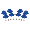 1967-70 INSTRUMENT PANEL LAMP DIFFUSER KIT, BLUE, 8 PCS