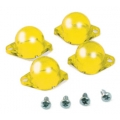 1965-66 INSTRUMENT PANEL LAMP DIFFUSER KIT, YELLOW, 4 PCS