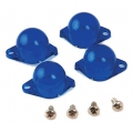 1965-66 INSTRUMENT PANEL LAMP DIFFUSER KIT, BLUE, 4 PCS