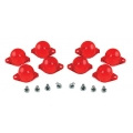 1967-70 INSTRUMENT PANEL LAMP DIFFUSER KIT, RED, 8 PCS
