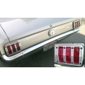 1965-66 MUSTANG BILLET TAIL LAMP BEZELS
