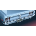 1971-73 REAR BUMPER, Without Bumper Guards And Horizontal Pads