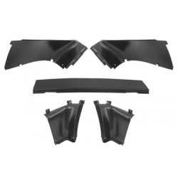 1967-68 MUSTANG FASTBACK REAR INNER TRIM PANEL 5PC. SET