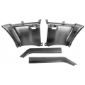 1969-70 MUSTANG FASTBACK PLASTIC REAR 1/4 TRIM PANELS, Black