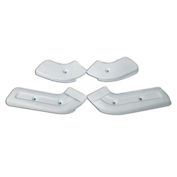 1968-70 SEAT HINGE COVER KITS, White, Set Of 4