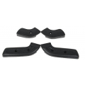1968-70 SEAT HINGE COVER KITS, Black, Set Of 4