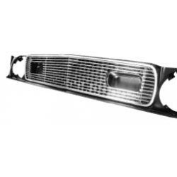 1971-72 MUSTANG POLISHED BILLET GRILLE, W/ Sport Lamps