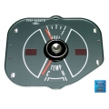 1969-70 MUSTANG FUEL/TEMPERATURE GAUGE W/O TACH, Steel Grey Face.