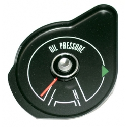1969-70 MUSTANG OIL PRESSURE GAUGE WITHOUT TACH, Black Face.
