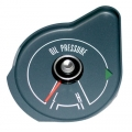 1969-70 MUSTANG OIL PRESSURE GAUGE WITHOUT TACH, Steel Grey Face.