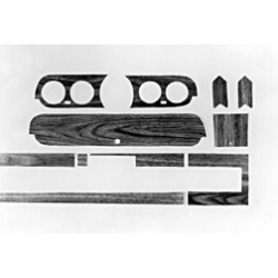 1965-66 MUSTANG WOODGRAIN GLOVE BOX TRIM KIT