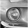 1969 REPLACEMENT HALOGEN HEADLAMPS, High Beam