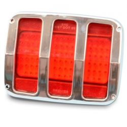 1964-66 TAILLIGHT BEZELS SMOOTH STYLE (FROM: $210)